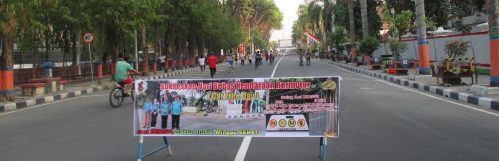 Car Free Day di Alun Alun Bojonegoro<BR>Jum'at Bersih, Sabtu Hijau, Minggu Sehat